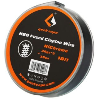 Geek Vape - NiChrome | N80 Fused Clapton Wire | ZN09 |...