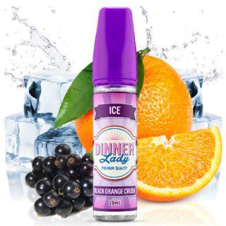 Dinner Lady Ice - Black Orange Crush (Schwarze Johannisbeeren, Orange, Koolada) | 20ml Aroma in 60ml Flasche