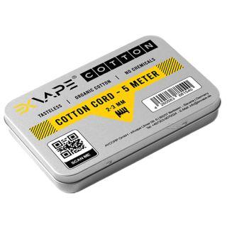 eXvape - Cotton Cord   5 Meter   2 bis 3mm   Organische Watte   Keine Chemikalien   Aromalos