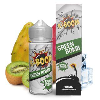 K-Boom - Green Bomb 2020 (Kiwi, Kaktus, Koolada)   10ml Aroma in 120ml Flasche