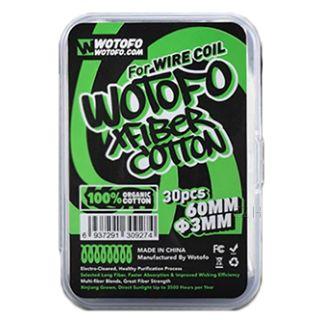 WoToFo - Xfiber Cotton Wattesticks   30 Stk. mit 60mm u. 3mm Durchmesser   100% Organisch