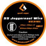 Geek Vape - SS Juggernaut Wire | SS316L | 10 FT |...