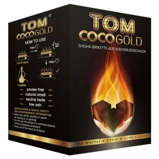 Tom Coco Gold - Briketts aus Kokosnusschalen   72 Stk.