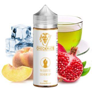 Dampflion Checkmate - White Bishop (Japanischer Pfirsich mit Granatapfel, grünem Tee und Koolada)   10ml Aroma in 120ml Flasche