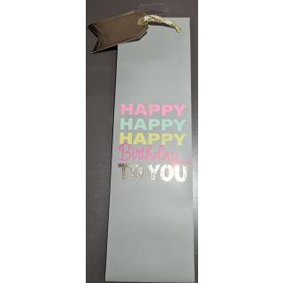 mit Happy, Happy, Happy Birthday to You glitzer aufschrifft